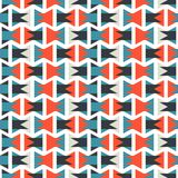 Colorful abstract orange and blue geometric horizontal pattern texture element.  Royalty Free Stock Photos