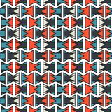 Colorful abstract orange and blue geometric stroke horizontal pattern texture element.  Vector Illustration