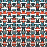 Colorful abstract orange and blue geometric stroke vertical pattern texture element.  Stock Photography