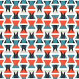 Colorful abstract orange and blue geometric vertical pattern texture element.  Stock Photos
