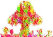 Colorful abstract paint  tree. Images for Colorful backgrounds for design illustration Royalty Free Stock Image