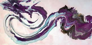 Marbling. Marble texture. Paint splash. Colorful fluid. Abstract colored background. Raster illustration. Colorful abstract painti. Colorful abstract painting Stock Illustration