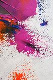 Fragment. Multicolored texture painting. Abstract art background. oil on canvas. Rough brushstrokes of paint. Closeup of a paintin. Colorful abstract painting royalty free illustration