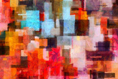 Colorful abstract painting Stock Images