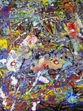 Colorful abstract painting canvas for home design. Acrylic Abstract colorfull  painting canvas Royalty Free Stock Photo