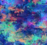 Colorful Abstract Painting. 3D rendering Stock Images