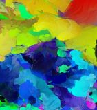 Colorful Abstract Painting. 3D rendering Royalty Free Stock Photography