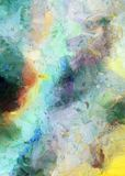 Colorful Abstract Painting. Muted azure colors Stock Image