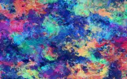 Colorful Abstract Painting. 3D rendering Stock Image