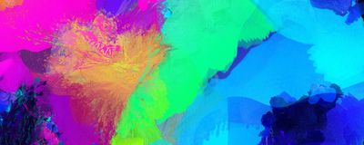 Colorful Brush Strokes. Colorful Abstract Painting. 3D rendering Royalty Free Stock Photos