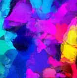 Colorful Abstract Painting. 3D rendering stock illustration
