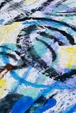 Colorful abstract painting. Detail section view of some colorful abstract painting Royalty Free Stock Photography