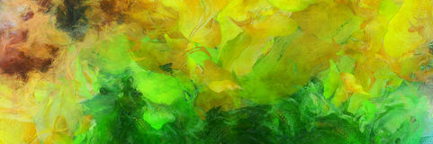 Colorful Abstract Painting royalty free illustration