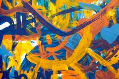 Colorful abstract painting made by children royalty free stock image