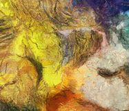 Colorful Abstract Painting stock illustration