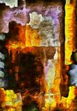 Colorful Abstract Painting. Colorful Abstract Oil Painting. 3D rendering Stock Photography