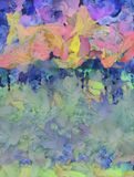 Colorful Abstract Painting. Colorful Abstract Oil Painting in Pastel Colors. 3D rendering Stock Image