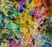 Colorful Abstract Painting. Random Lines. 3D rendering stock illustration
