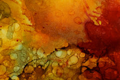 Colorful abstract painting texture. In mixed media and alcohol ink, amazing like contemporary modern artwork Stock Images