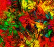 Colorful Abstract Painting. Vivid Colorful Abstract Painting. 3D rendering Stock Photography