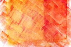 Colorful abstract painting with red yellow pain roller strokes Royalty Free Stock Photography