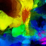 Colorful Abstract Painting. Wide brush strokes. 3D rendering royalty free illustration