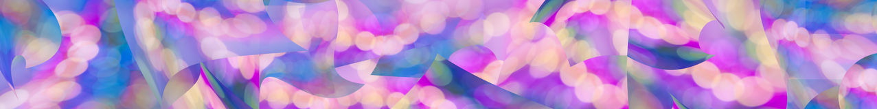 Colorful abstract panorama web banner background. Colorful pink purple aqua blue and yellow abstract panorama web banner background with circles of light Stock Image