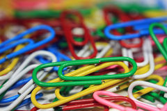 Colorful abstract paper clips royalty free stock image