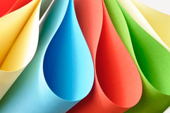 Colorful abstract paper shapes Royalty Free Stock Image