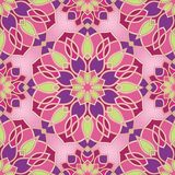 Colorful abstract pattern. Abstract pattern with mandala. Seamless filigree ornament. Colorful template for wallpaper, textile, shawl, carpet Stock Images