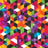 Colorful abstract pattern with geometric shapes. Royalty Free Stock Photo
