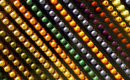 Colorful abstract pattern of knobs