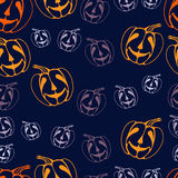 Colorful abstract pattern with pumpkin Royalty Free Stock Images