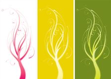 Colorful abstract plants Royalty Free Stock Images
