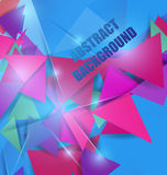 Colorful abstract polygon background Stock Photography