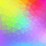 Colorful abstract polygon background Stock Photos