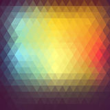 Colorful abstract polygon.Retro background Royalty Free Stock Image