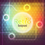 Colorful abstract polygon.Retro background Royalty Free Stock Photos