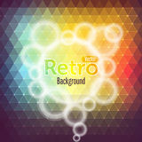 Colorful abstract polygon.Retro background Royalty Free Stock Images