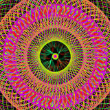 Colorful Abstract Psychedelic Art Background. Stock Photo