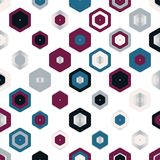 Colorful Abstract Random Hexagons Texture, Background Pattern Stock Image