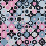 Colorful Abstract Random Hexagons Texture, Background Pattern Royalty Free Stock Photography