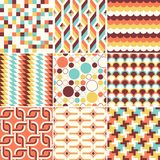 Colorful abstract retro stylish seamless geometric cushion pattern royalty free illustration
