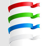 Colorful abstract ribbon Stock Photography