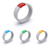 Colorful abstract rings Stock Photography