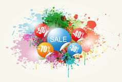 Colorful Abstract Sale Vector Stock Image