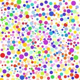 Colorful abstract seamless background, pattern. Colorful dots, circles, confetti. Vector illustration for bright design. Modern pattern decoration. Color Royalty Free Stock Photography