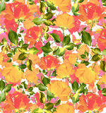 Colorful Abstract seamless floral  Watercolor oil painting textured seamless background. Brush strokes on a white ground seamless wallpaper Exploding painterly Stock Image