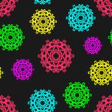 Colorful abstract seamless pattern. Can be used in the background, for the design of packaging, labels. royalty free illustration