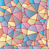 Colorful abstract seamless pattern. Geometric colorful objects like stained glass. Vector illustration Royalty Free Stock Photo